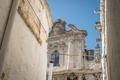 Street leading to cathedral in Ostuni, Italy Royalty Free Stock Image