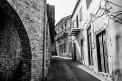 Street in Lefkara village. Larnaca district, Cyprus Stock Photography