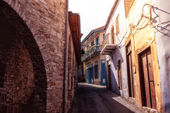Street at Lefkara village. Larnaca district, Cyprus Royalty Free Stock Image