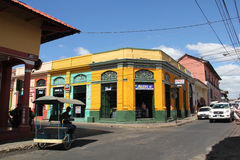 Street in Leon, Nicaragua stock images