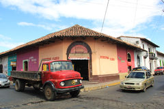Street in Leon, Nicaragua royalty free stock photos