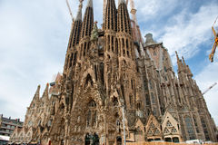 Street level view of the Sagrada Familia Barcelona Royalty Free Stock Image