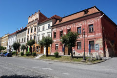Street in Levoca town. Royalty Free Stock Images