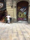 Street life in Barcelona. Catalunya, Spain Royalty Free Stock Image
