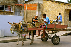 Street Life in Cartagena, Colombia Royalty Free Stock Image