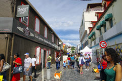 The street life of Fort-de-France city on January 9, 2017. Fort-de-France is the ca. FORT-DE-FRANCE, MARTINIQUE - JANUARY 9, 2017 - The street life of Fort-de Stock Photo