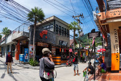 Street life in Haad Rin town, koh Phangan, Thailand Stock Images