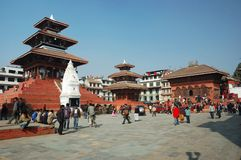 Street Life In Kathmandu,Durbar Square Stock Photos