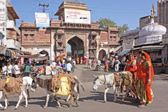 Street life of the Jodhpur , the blue city Stock Photos