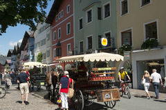 Street life in Kitzbuehl, Austria Stock Image