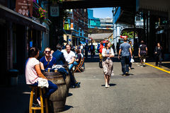 Street life in London. Street life next to Borough market in London, England Stock Photography