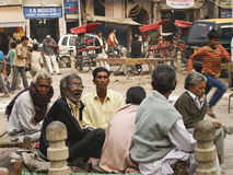 Street life in New Delhi, Pahar ganj Royalty Free Stock Photo