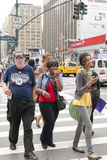 Street life New York. Street life in New York in summer Royalty Free Stock Photos