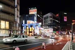 Street life at night in Shinjuku Royalty Free Stock Images