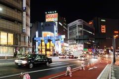 Street life at night in Shinjuku Royalty Free Stock Image