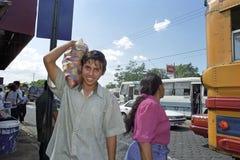 Street life, public transport, portrait man, Managua Stock Photos