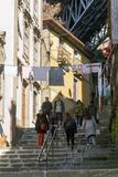 Street life in Ribeira district, Porto, Portugal Royalty Free Stock Image