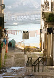 Street life in Ribeira district, Porto, Portugal Stock Images
