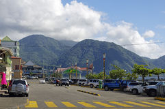 The street life of Roseau city, Dominica island,. ROSEAU, DOMINICA - JANUARY 5, 2017 - The street life of Roseau city on January 5, 2017. Roseau is the capital stock images