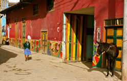 Street life in rural Colombia royalty free stock images