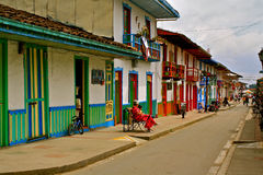Street Life in Salento, Coffee Region, Colombia Stock Photo