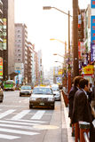 Street life in Asakusa Crossing,Japan Royalty Free Stock Photography