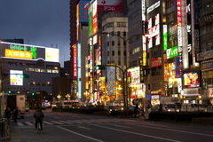Street life in Shinjuku Stock Photos