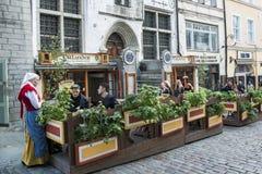 Street life in Tallinn royalty free stock photos