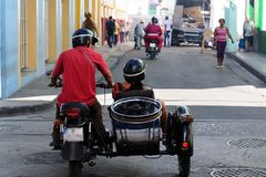 The street life and the transport on Cuba royalty free stock photos