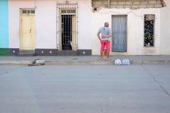 Street life in Trinidad, Cuba royalty free stock photo