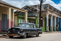 Street life view  in Santa Clara Cuba with Oldtimer Stock Images