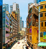 Street life in Wan Chai, Hong Kong Royalty Free Stock Images