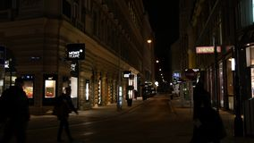 Street Life Wien stock video footage