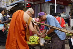 Street life in Yangon Royalty Free Stock Images