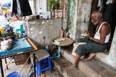 Street Life - Yangon, Myanmar Royalty Free Stock Photography