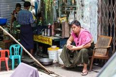 Street Life - Yangon, Myanmar Stock Image