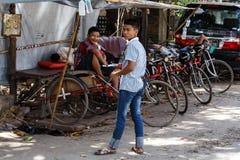 Street Life - Yangon, Myanmar Stock Photo