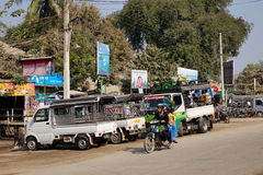 Street life in Yangon, Myanmar Stock Image