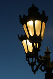 Street light 02. Street lamp in working mode in the winter night Stock Photography