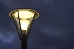 Street light. Hanging on pole Stock Image