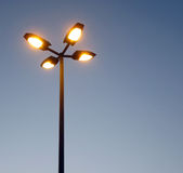 Street light against a blue sky. Background ,blue sky as background for street lights,amp post electricity industry Stock Photography