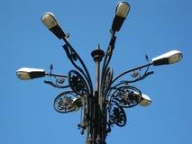 street-light-against-blue-sky Stock Images