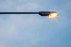 Street light against blue sky Royalty Free Stock Photography