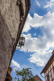 Street light against the blue sky. Details. Wartburg Castle in Eisenach, Germany Stock Image