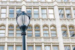 Street light and beautiful windows. Details. Philadelphia, Pennsylvania, USA Stock Photo