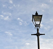 Street light Blue skies and clouds Royalty Free Stock Images