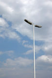Street light with clouds Royalty Free Stock Photos