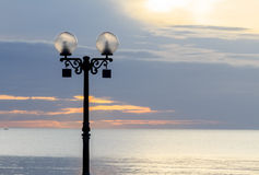 Street Light at Dawn Royalty Free Stock Photography