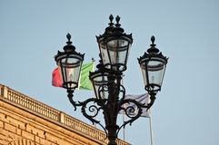 Street light florence italy Stock Photo