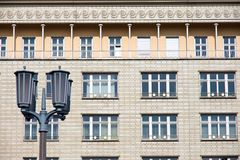 Street light in front of a socialistic building Stock Image